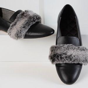 NEW ZARA Faux Fur Loafers